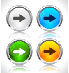 metal web buttons vector image