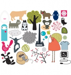 misc collection vector image