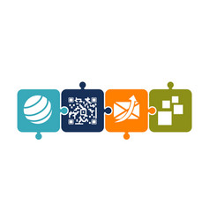 mobility solver logo design template vector image