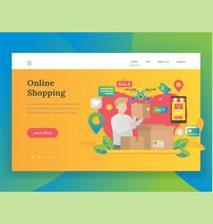 modern flat design concept online shopping vector image