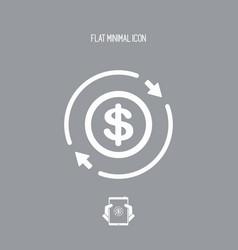 Money trade flat icon - dollars vector