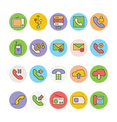 Networking and Communication Icons 4 vector image