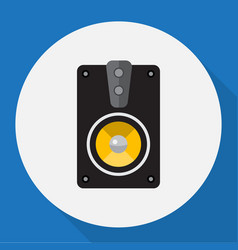Of home symbol on speaker flat vector