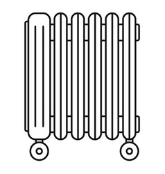 oil radiator icon outline style vector image