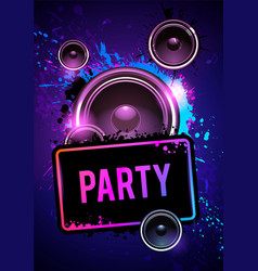party club disco flyer dancing event template vector image