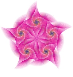 Pink abstract circular fractal shape design vector
