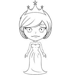 Princess Coloring Page 3 vector image