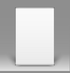 realistic front view of empty flipchart on grey vector image