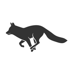 running fox vector image