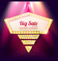 sale banner retro style vector image