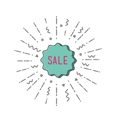 Sale shining banner colorful background in flat vector image