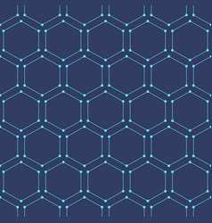 seamless geometric background with hexagons vector image