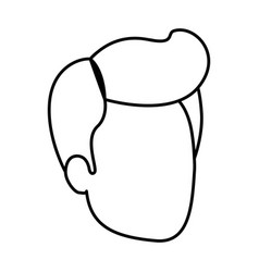 Sketch silhouette of man faceless with pompadour vector