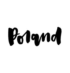 slogan poland calligraphy template text for your vector image