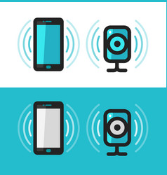 smartphone phone webcam icon communication vector image