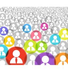 social media account icons vector image