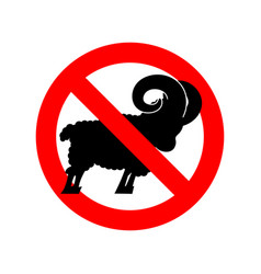 stop ram attention farm animal red prohibitory vector image