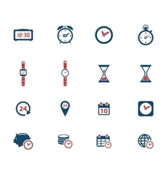 Time simply icons vector image