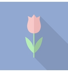 Tulip icon in a flat style vector