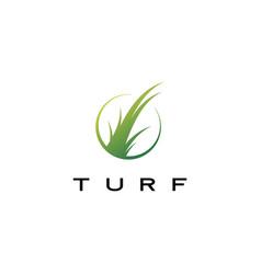 turf logo icon vector image