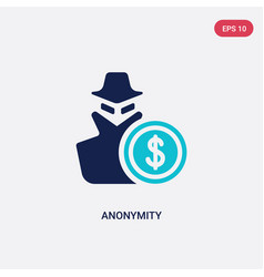 Two color anonymity icon from blockchain concept vector