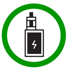 vaping area sign electronic cigarette icon vector image