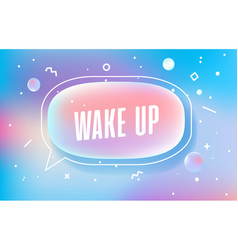 Wake up in design banner template for web vector