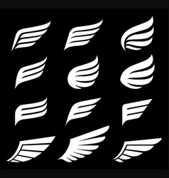 wings icons logo vector image