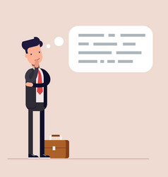 businessman or manager thinks abstract text in vector image vector image