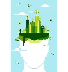 Green city people idea vector