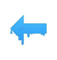 left melting arrow icon previous symbol vector image