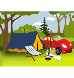 Picnic place vector image vector image