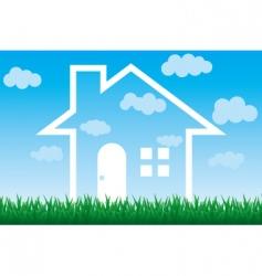 sky house vector image