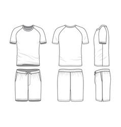 templates of blank t-shirt and shorts vector image vector image