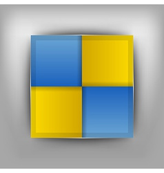 business four squares II vector image vector image