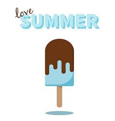 Love Summer popsicle design for cards prints vector image