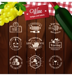 Set of elegant wine badges and labels Vintage vector image