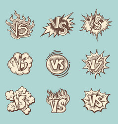 vintage versus hand drawn labels collection vector image vector image