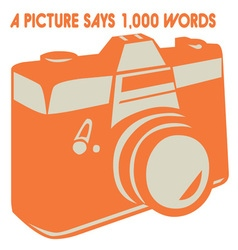 Camera Picture Words vector image vector image