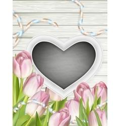Frame in heart shape eps 10 vector