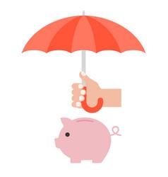 hand holding umbrella vector image