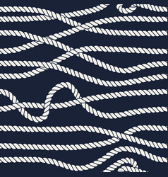 Marine rope line seamless pattern vector