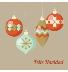 Retro Merry Christmas greeting card invitation vector image vector image
