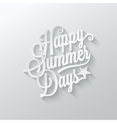 summer paper cut lettering background vector image vector image