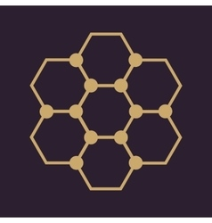 The molecule icon Atom and chemistry dna vector image