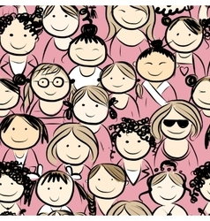 Women crowd seamless pattern for your design vector image vector image