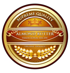 Almond Butter Label vector image