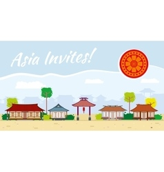 Asia travel background vector