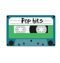 Cassette pop hits vector image vector image