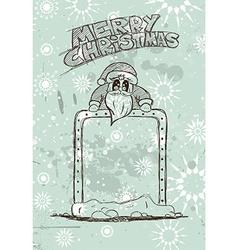 Hand Drawn Santas Panel doodle sketch vector image